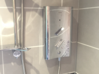 Luxury Fitted Electrical Chrome Shower